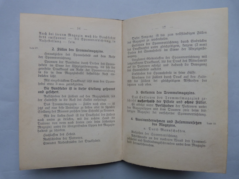 Manuel en langue allemande sur le P 08/14 LP et sa traduction en langue française. Manuel13