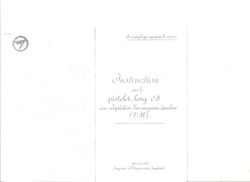 Manuel en langue allemande sur le P 08/14 LP et sa traduction en langue française. Manuel18