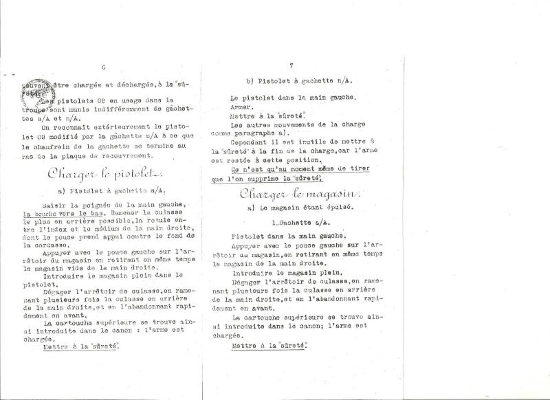 Manuel en langue allemande sur le P 08/14 LP et sa traduction en langue française. Manuel19