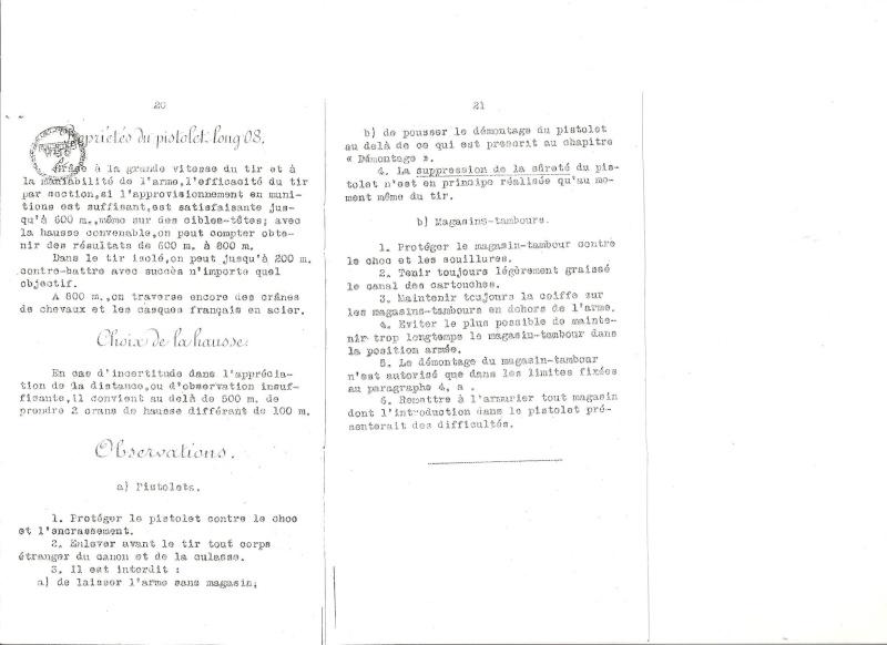Manuel en langue allemande sur le P 08/14 LP et sa traduction en langue française. Manuel22