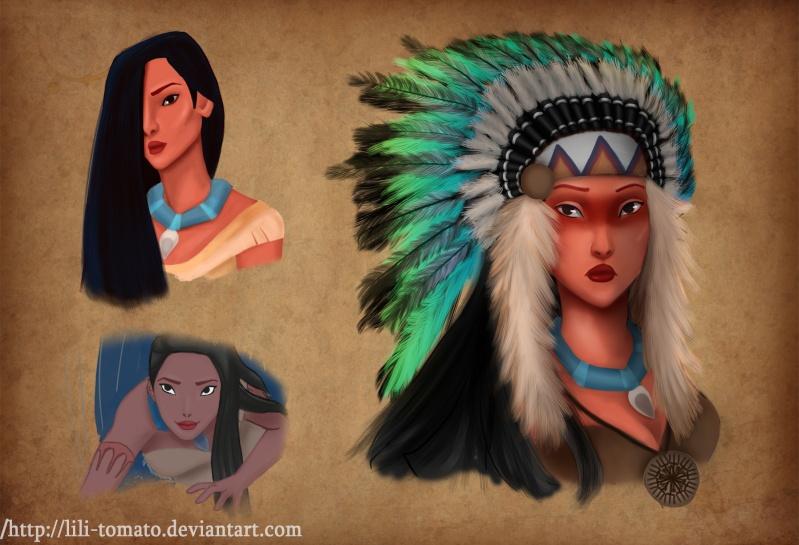 Mes nouveau dessins, et croquis Pocaho10