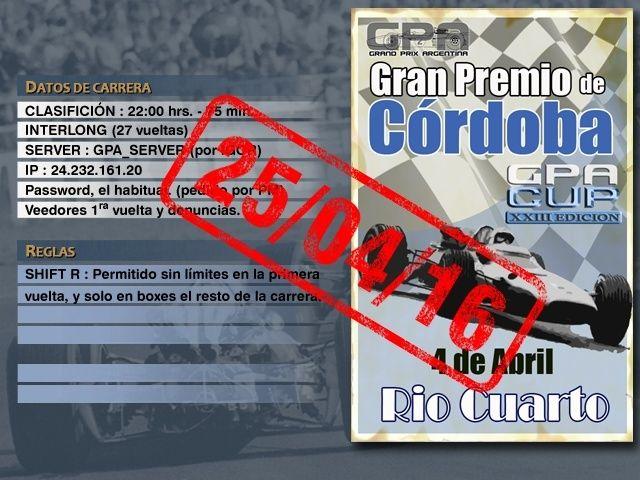 CUP Edicion XXIII - Río Cuarto Anunci15