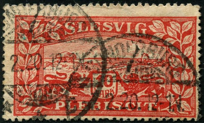 Zone - Abstimmungsgebiet Schleswig Abstempelungen Zone 1 (Deutsche Stempel) Stempe10