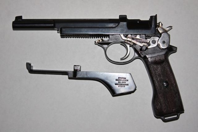 Pistolet Mannlicher M. 1905 Argentin Mannli12