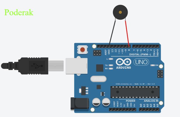Codice - Tutorial Arduino Base #18: Il buzzer Podera10