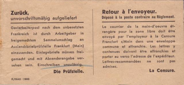 Lettres recommandées des STO ne sont plus admises par la censure de Francfort/M (e) (suite) 10073_10