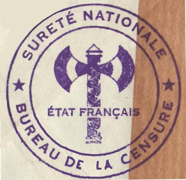 """Cachet """"Sureté Nationale / état français / Bureau de la censure"""" sur Bande de Tunis ?? 1008310"""