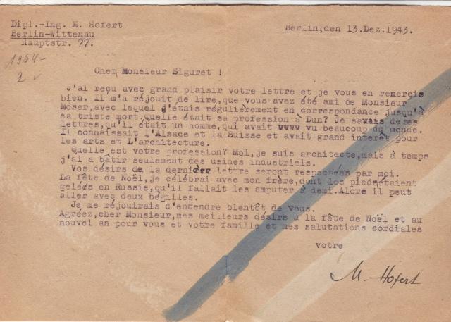 Lettres recommandées des STO ne sont plus admises par la censure de Francfort/M (e) (suite) 4003410