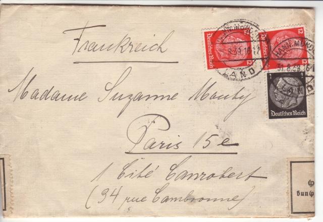 Censure UC 18 (Melun) sur lettre d'Allemagne du 02 septembre1939 pour Paris !!? 7002610