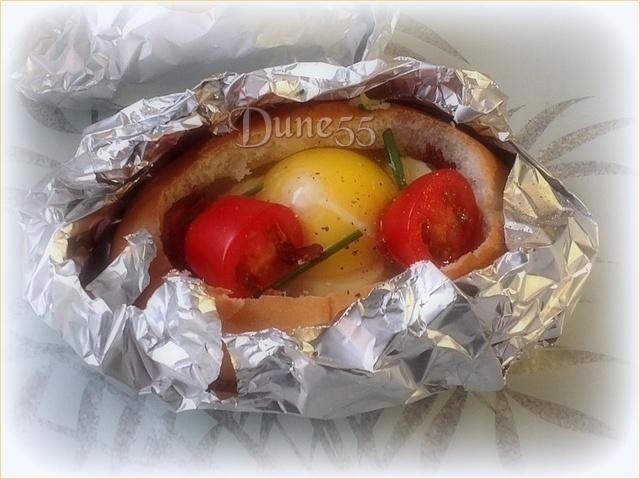 Bols déjeuner de bacon, oeuf et Bocconcini Gfge6l11