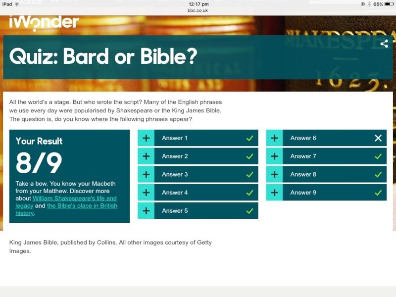 Quiz: Bard or Bible? Image93