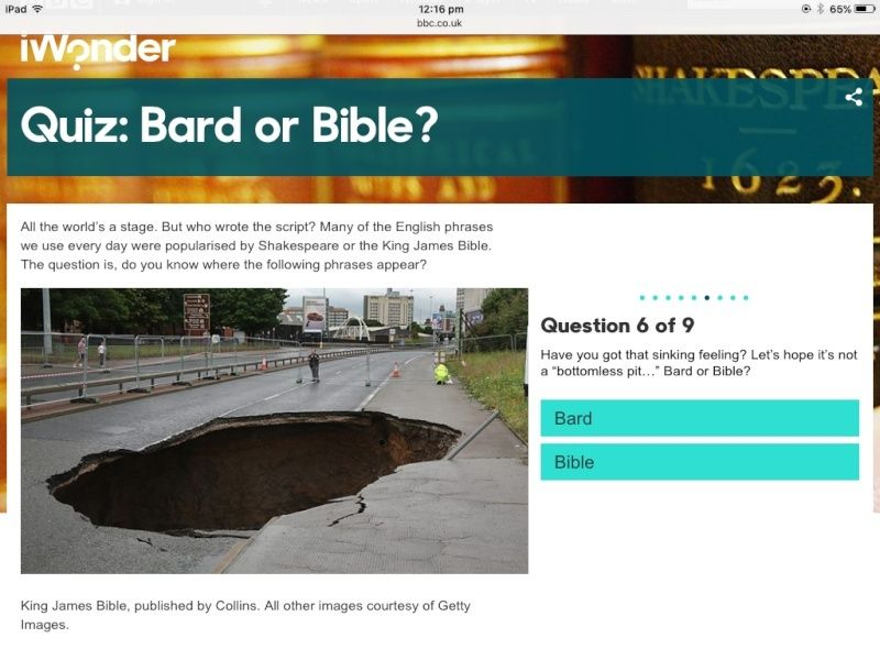 Quiz: Bard or Bible? Image94