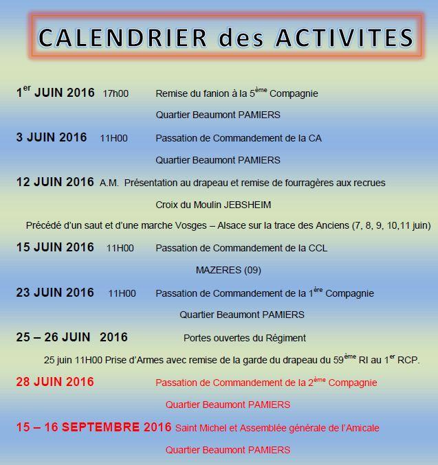 Calendrier des activités 1er RCP juin et septembre 2016 1am10