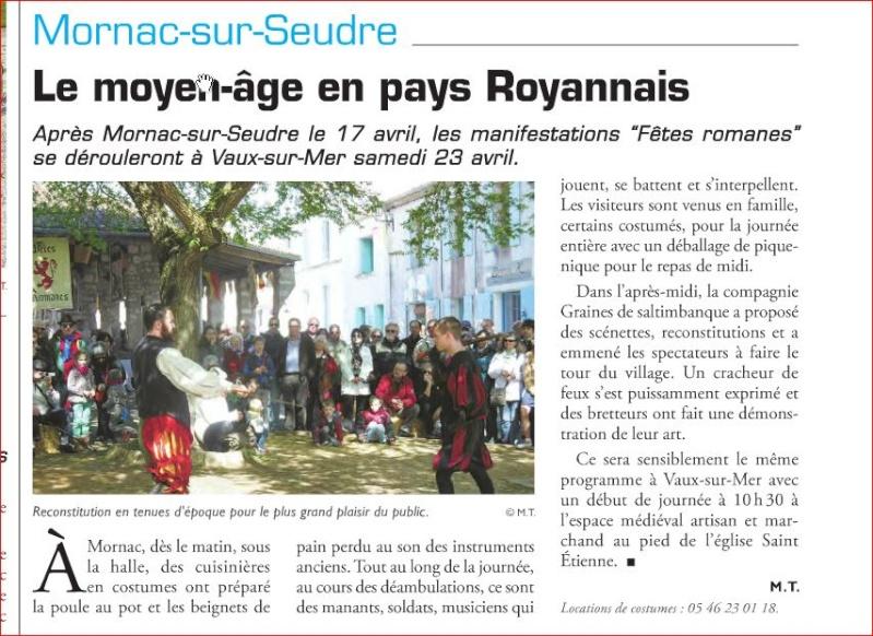 Fêtes Romanes en Pays Royannais Mornac11