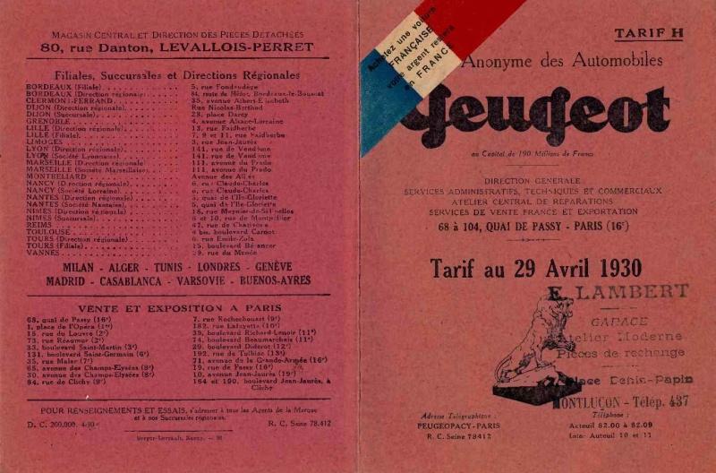 les concessions Peugeot Tarif_11