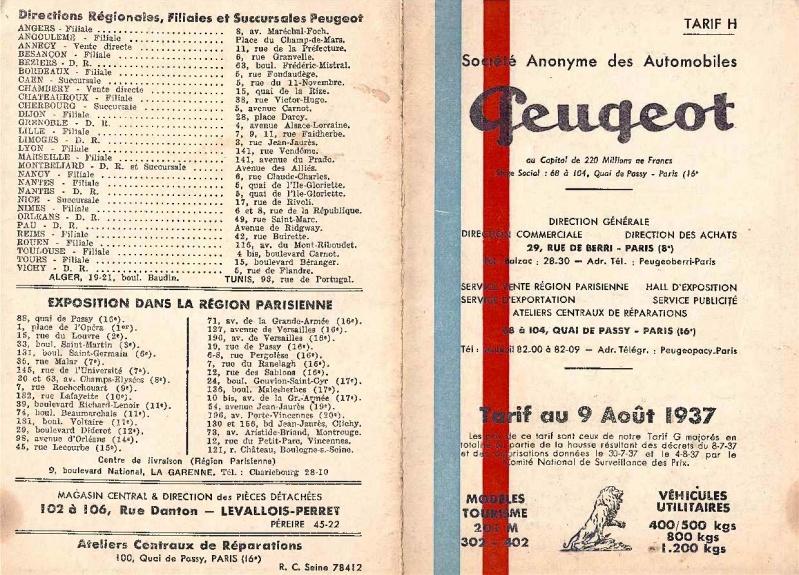 les concessions Peugeot Tarif_12