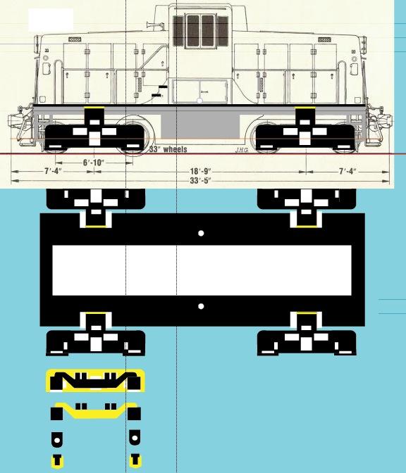 Un GE 44 ton en Z Ge44-d10