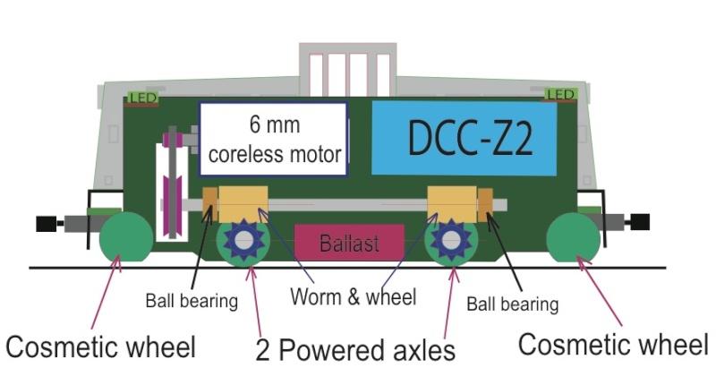 Un GE 44 ton en Z Ge44-m10