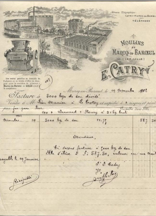 """Pas-de-Calais - Plomb de scelle """"E. Catry moulins de Marcq en Baroeul"""". E_catr11"""