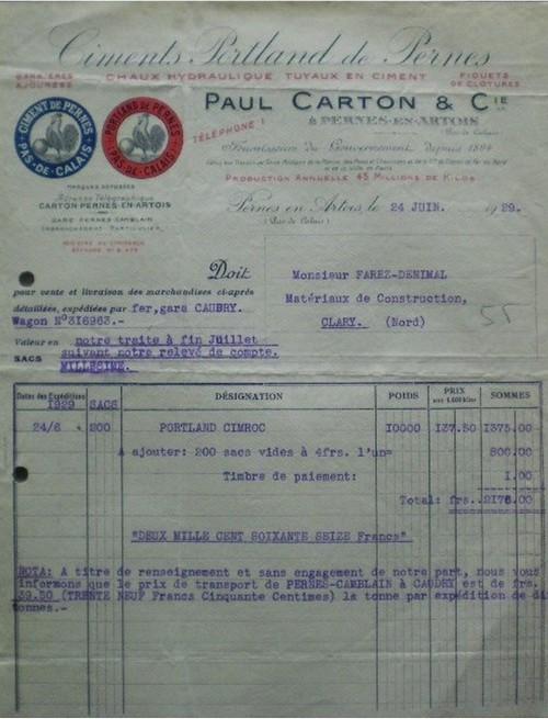 "Pas-de-Calais - Plomb de scelle ""P. CARTON & Cie - PERNES EN ARTOIS"". Paul_c10"