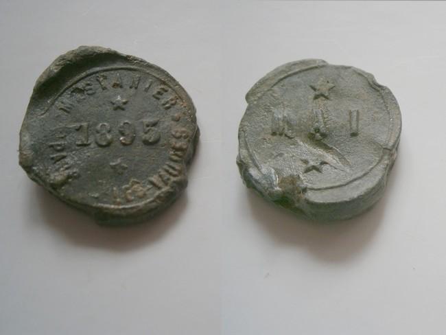 """Aube - Plomb de scelle """"Mestanier a Saint Parres- les-Vaudes """". Plomb174"""