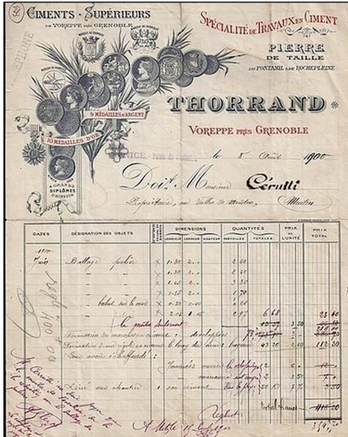 """Isere - Plomb de scelle """"Thorrand & Cie de Voreppe pres de Grenoble"""". Thorra11"""