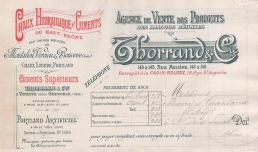 """Isere - Plomb de scelle """"Thorrand & Cie de Voreppe pres de Grenoble"""". Vorepp11"""
