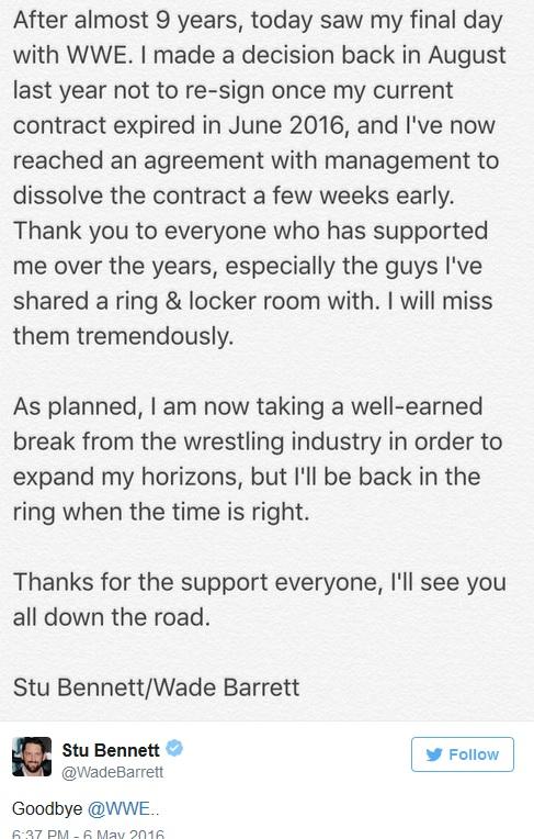 [Contrat] La WWE se sépare de 7 de ses talents ! (Mise à jour : 19h41) Barret10