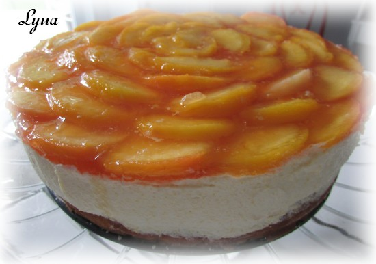 Gâteau mousse aux pêches Mousse12