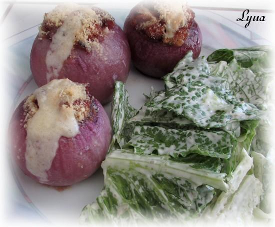 Oignons farcis à la saucisse Oignon12