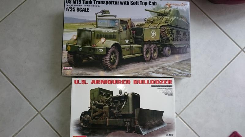 super lourd au 1/35 M 19 tank transporter soft cab Merit kits  Transp10