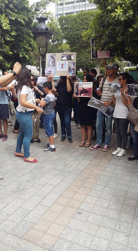 MASSACRES à CIEL OUVERT en Tunisie Manif_16