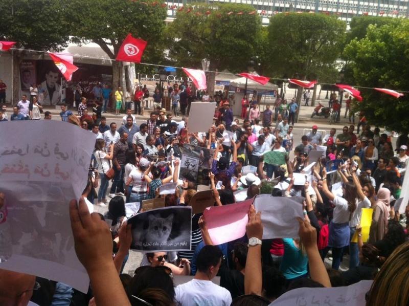 MASSACRES à CIEL OUVERT en Tunisie Manif_40