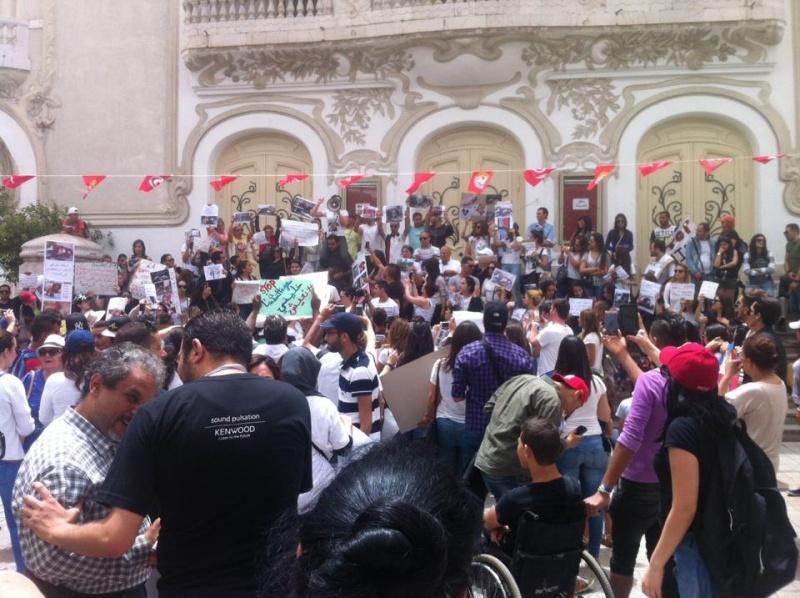 MASSACRES à CIEL OUVERT en Tunisie Manif_45