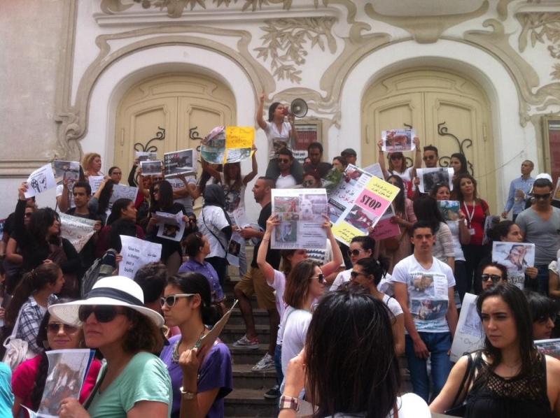 MASSACRES à CIEL OUVERT en Tunisie Manif_46
