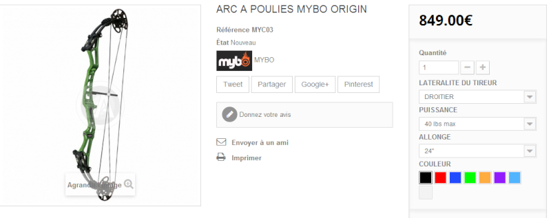 Mybo arc à poulie Captur12