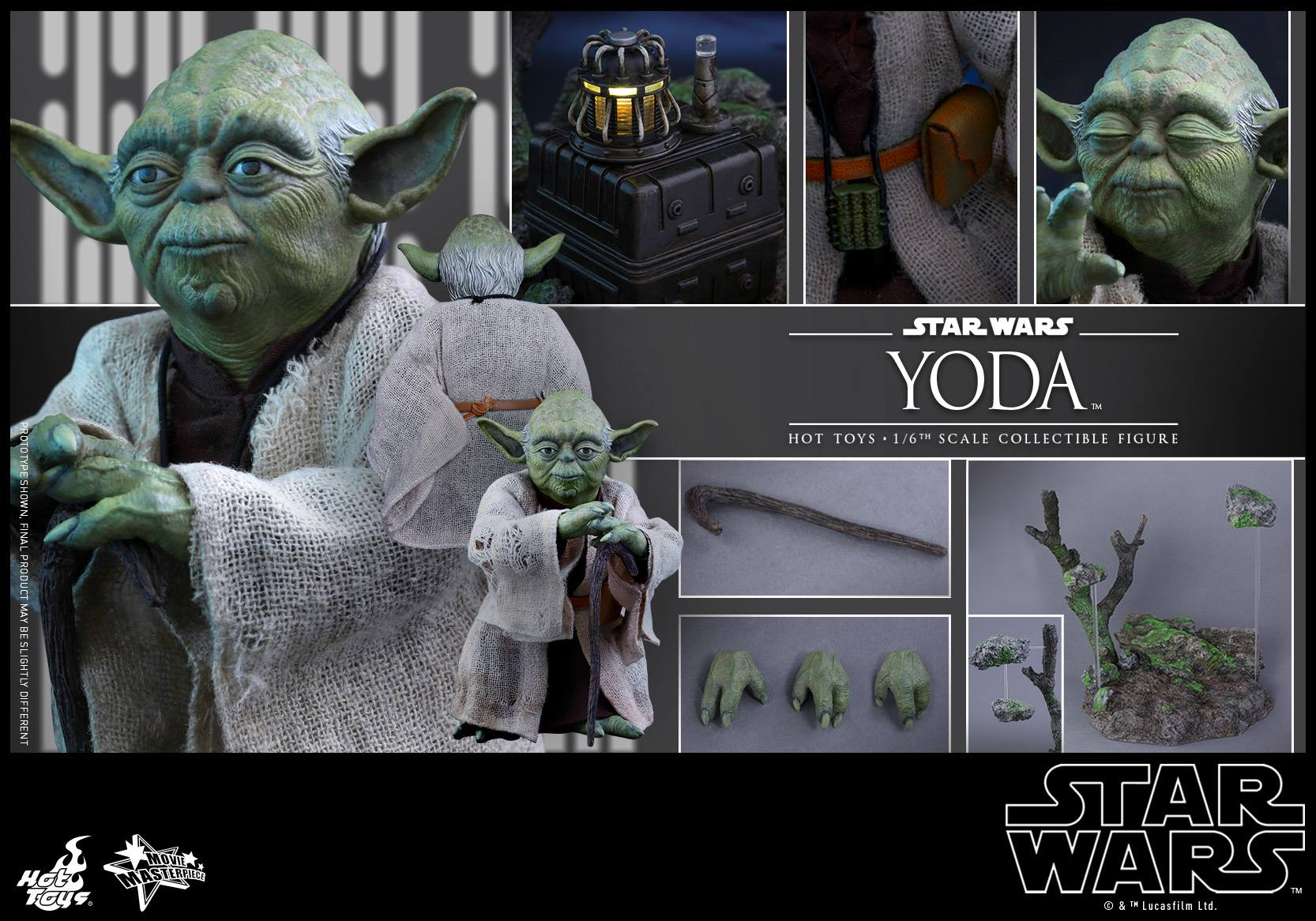 [STAR WARS] ESB - figurine YODA - HOT TOYS Hot-to54