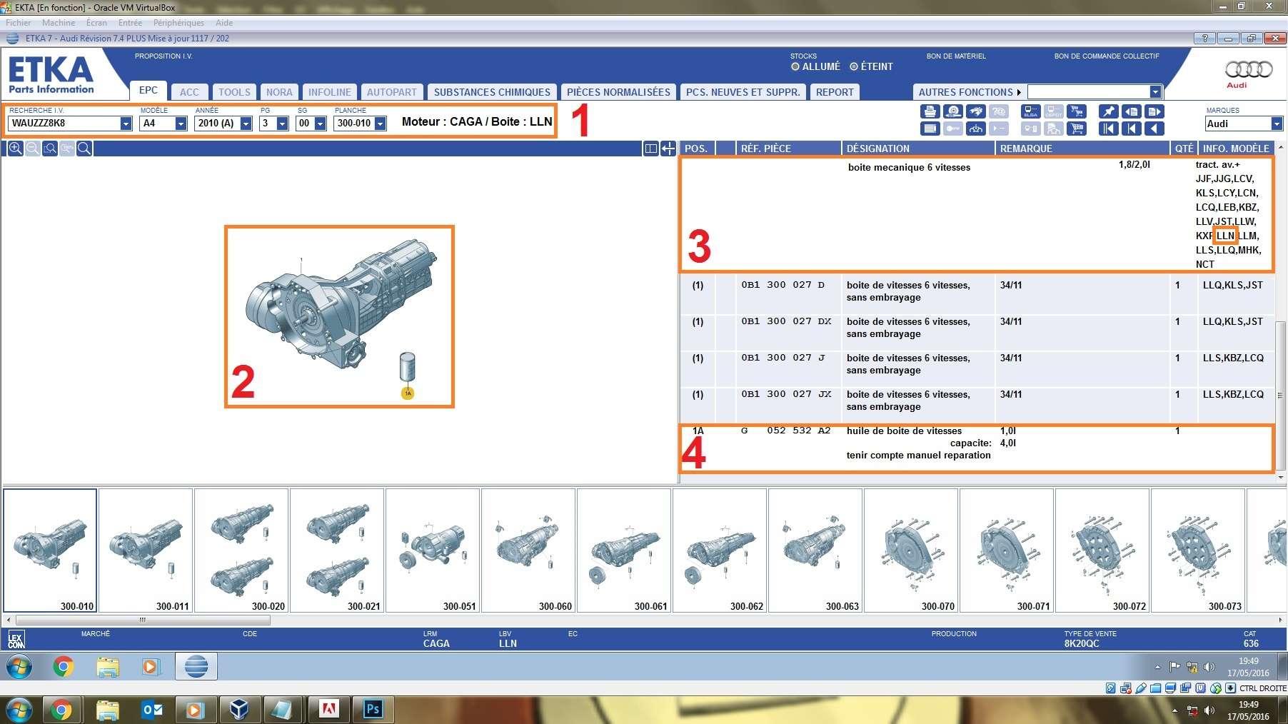 Réference HUILE DE BOITE AUDI  A4 2.0 143cv de 2010 112