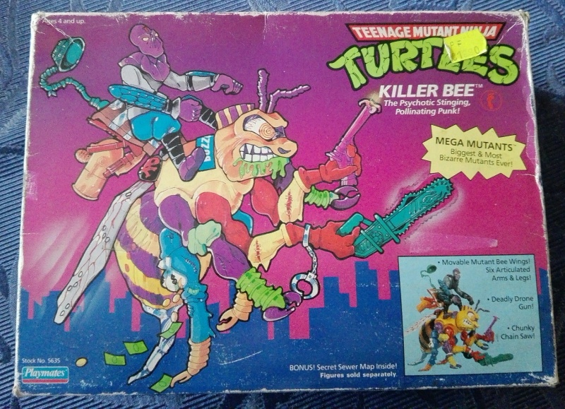 Tartarughe Ninja Teenage Mutant Ninja Turtles KILLER BEE e SHREDDER MOBILE Playmate/Bandai MISB _5710