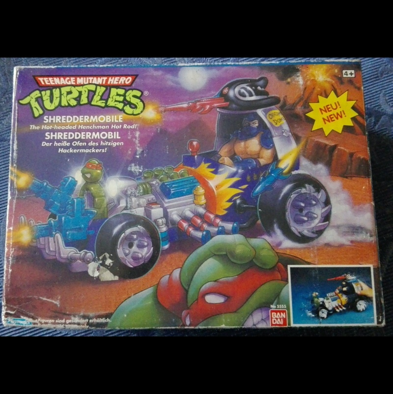 Tartarughe Ninja Teenage Mutant Ninja Turtles KILLER BEE e SHREDDER MOBILE Playmate/Bandai MISB _57_110