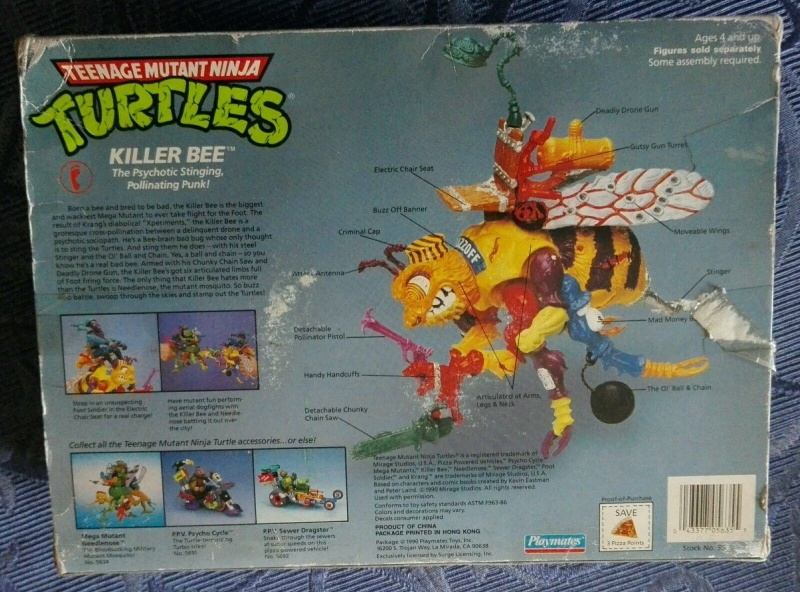 Tartarughe Ninja Teenage Mutant Ninja Turtles KILLER BEE e SHREDDER MOBILE Playmate/Bandai MISB _57_410