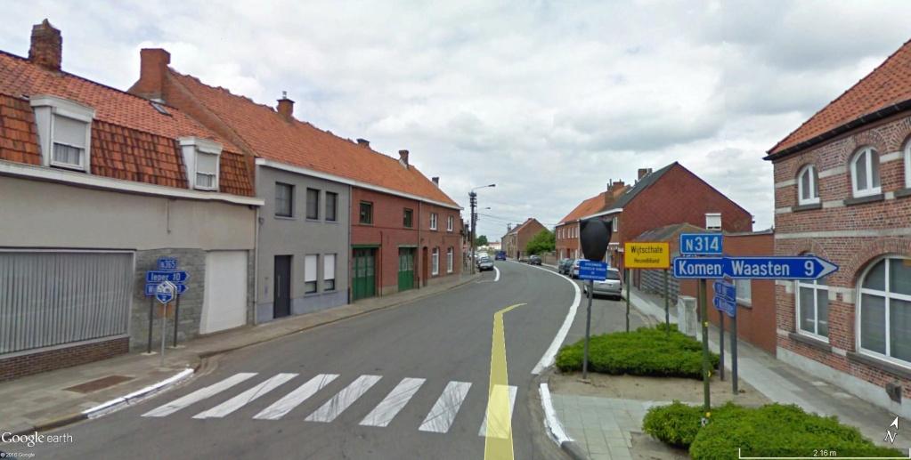 Limite entre le Hainaut et la Flandre Occidentale à Messines en Belgique. Erreur10