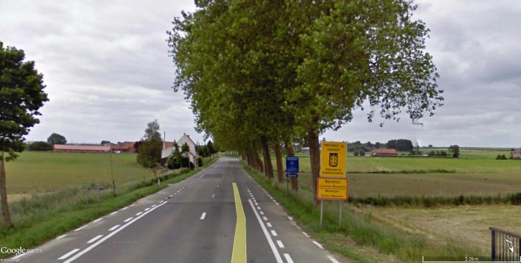 Limite entre le Hainaut et la Flandre Occidentale à Messines en Belgique. Limite10