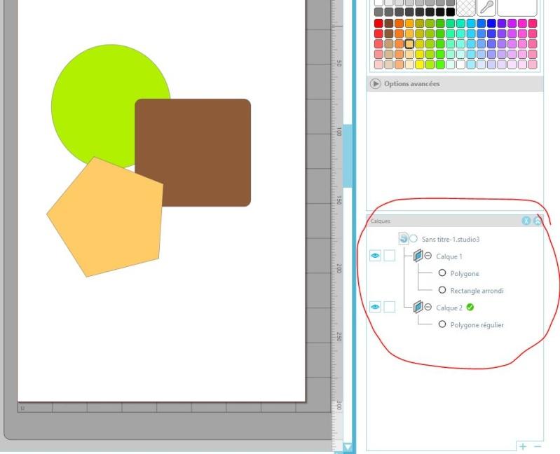 utilisation de la fonction calque  dans Silhouette Designer Captur38