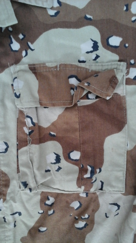 "Desert uniforms (DCU) - DESERT 6 colors ""Chocolate chip""  dated 1984 20151111"