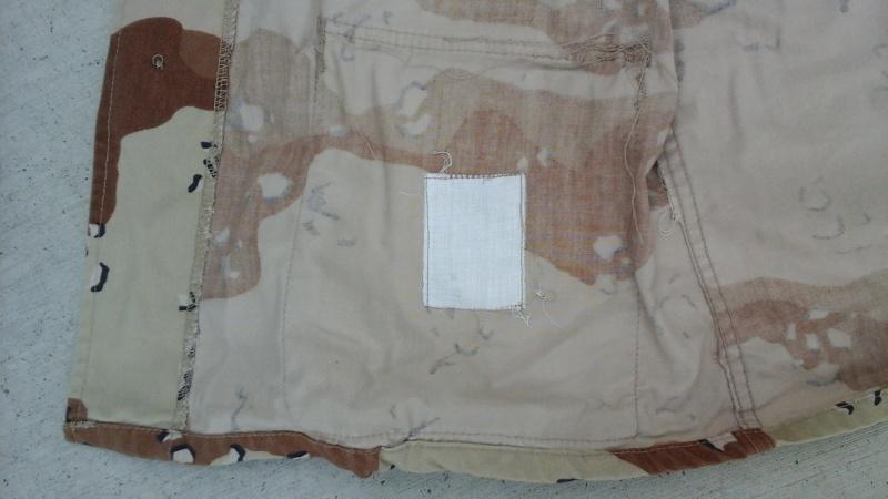 "Desert uniforms (DCU) - DESERT 6 colors ""Chocolate chip""  dated 1984 20151113"