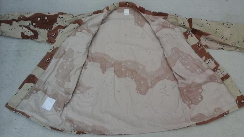 "Desert uniforms (DCU) - DESERT 6 colors ""Chocolate chip""  dated 1984 20151114"