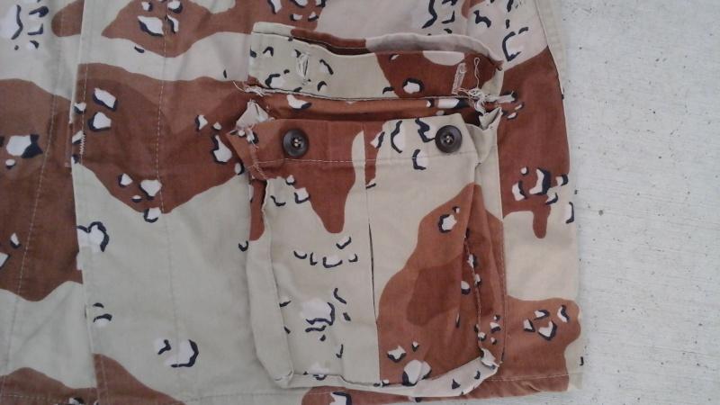 "Desert uniforms (DCU) - DESERT 6 colors ""Chocolate chip""  dated 1984 20151115"