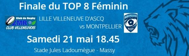 Finale (sur Paris) du TOP 8 féminin Lille Villeneuve d'Ascq/Montpellier  Top-8110