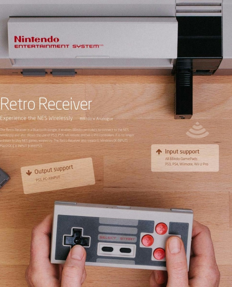 8Bitdo Nes Retro Receiver  Nes-re14